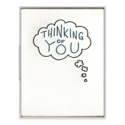 Thinking of You Bubble Letterpress Greeting Card