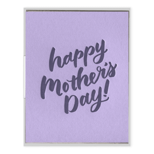 Mother's Day Script Letterpress Greeting Card