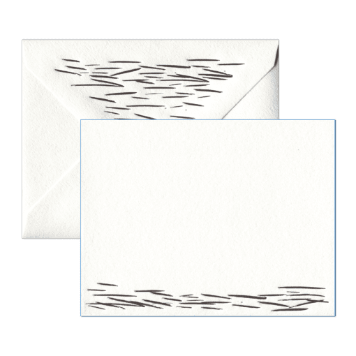 Waves Letterpress Social Stationery