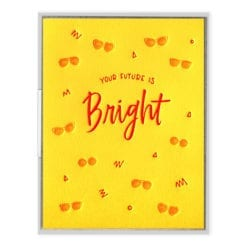 Future is Bright Letterpress Greeting Card
