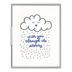Through the Storms Letterpress Greeting Card